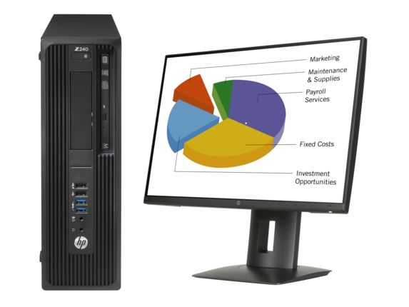 Z 240 SFF + Z24n, i7-6700, SFF, 64-bit, SSD, 6th gen Intel® Core™ i7, DVD Super Multi