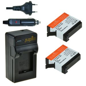 JUPIO Battery Kit with 2 batteries and a Charger for GoPro Hero3+ Car (CGP0015)
