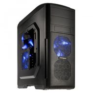 GX500 Window Blue Edition Midi-Tower - schwarz