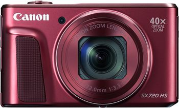 Powershot SX720 HS 20,3MP Sort 40Xzoom,  24-960mm, WIFI,NFC, full HD 60p video