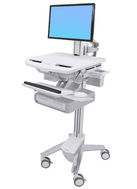 STYLEVIEW CART WITH LCD PIVOT DOUBLE DRAWER CRTS