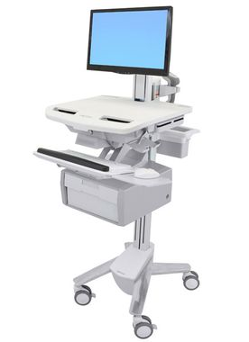 STYLEVIEW CART WITH LCD PIVOT TALL DRAWER CRTS