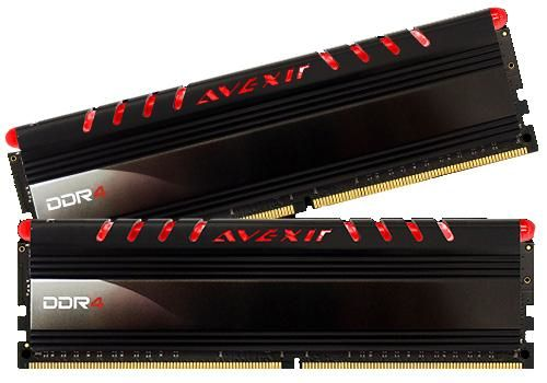 Core Series, rote LED, DDR4-2400,  CL16 - 8 GB Kit