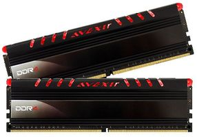 AVEXIR Core Series, rote LED, DDR4-2400,  CL16 - 16 GB Kit (AVD4UZ124001608G-2COR)