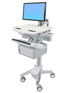 ERGOTRON STYLEVIEW CART WITH LCD ARM 1 TALL DRAWER (SV43-12B0-0)