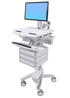 STYLEVIEW CART WITH LCD PIVOT 3 DRAWERS CRTS