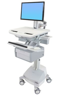 STYLEVIEW CART WITH LCD PIVOT SLA POWERED TALL DRAWER EU CRTS
