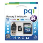SAFEHOME PQI, 64GB Memory & Multireader Class10 - qty 1