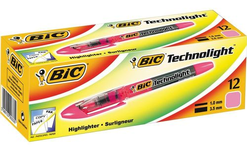 BIC Technolight Tekstmarker Pink - fluorescent - Chisel nib for broad or fine lines (box of 12) (802305*12#DBL)
