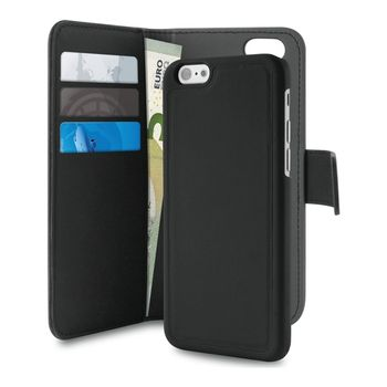 b89433ae PURO iPhone 7/6S Plus Wallet w/ MagnCover 2in1 Blk (IPC755BOOKC3BLK)