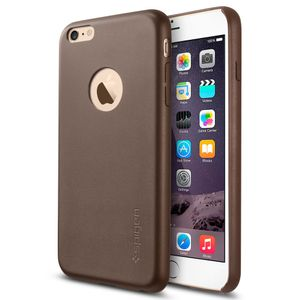 SPIGEN iPhone 6 Plus Case Leather Fit Series Olive Brown (SGP11401)