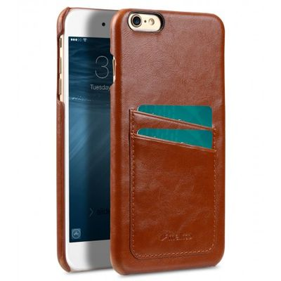 COVER WITH DUAL CARD SLOT IPHONE 6/6S BROWN