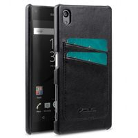 COVER WITH DUAL CARD SLOT SONY XPERIA Z5 BLACK
