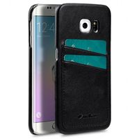 COVER WITH DUAL CARD SLOT SAMSUNG GALAXY 6S EDGE BLACK
