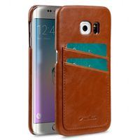COVER WITH DUAL CARD SLOT SAMSUNG GALAXY 6S EDGE BROWN