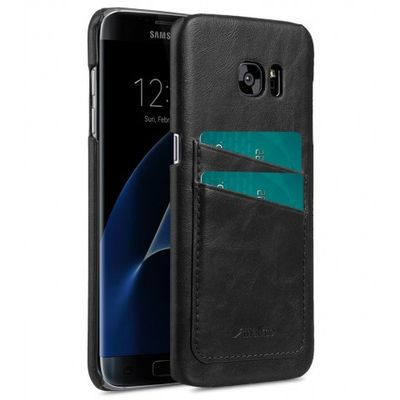 COVER WITH DUAL CARD SLOT SAMSUNG GALAXY S7 EDGE BLACK
