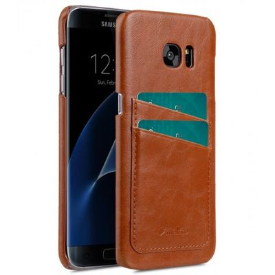 COVER WITH DUAL CARD SLOT SAMSUNG GALAXY S7 EDGE BROWN
