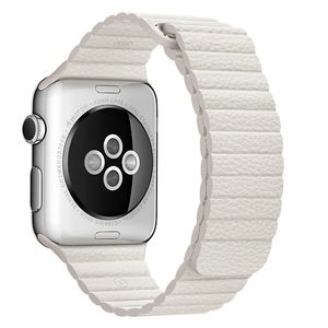 APPLE WATCH ACCS 42MM WHITE LEATHER LOOP - LARGE ACCS (MMAX2ZM/A)