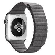 APPLE WATCH ACCS 42MM STORM GRAY LEATHER LOOP - MEDIUM ACCS