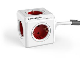 PowerCube Extended 3 m incl. 3 m Cable red Type F