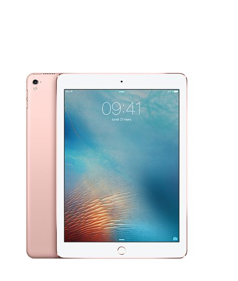 "iPad Pro 9.7"" 128GB Cell Rose Gull WiFi+Cell,  9.7"" Retina skjerm, 12MP/5MP Kamera, iOS 9.3"