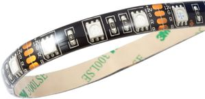 RGB-LED-Strip,  IP65, schwarz - 100cm