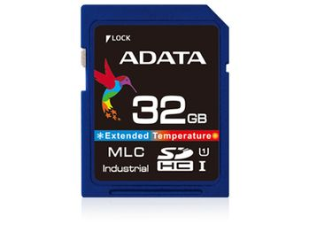 ADATA IDC3B MLC SD Card 4GB Wide Temp MLC -40 to +85C