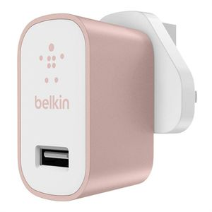BELKIN MixIt Home charger 2.4 amp with USB port, Rose Gold (F8M731VFC00)