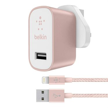 MixIT Premium Wall Charger 2,4A, Rose Gold