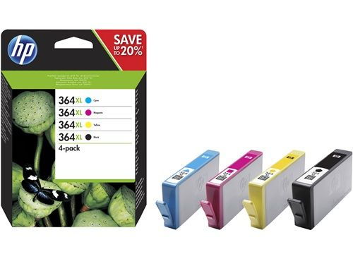 No364 XL black/ cyan/ magenta/ yellow ink cartridges,  4-pack