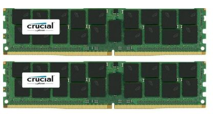 Crucial 2x32GB 2400MHz DDR4 CL17 DR x4 Load ReducedDIMM 288pin
