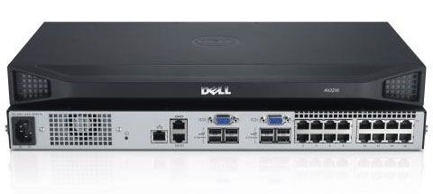 DELL DAV2216-G01 16-port analog_ upgrade to digital KVMswitch 2 local users singlepowersupply - TAA (A7485896)