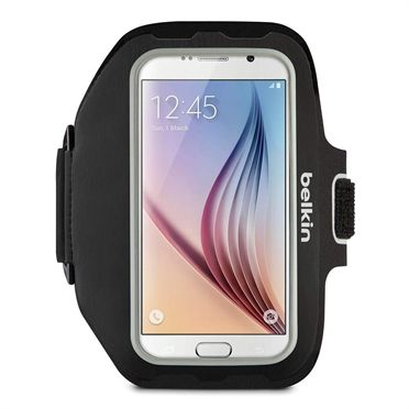 Sportfit Plus Armband Black. For Samsung Galaxy S5, S6/S6 Edge, S7