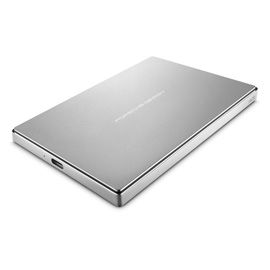 "LACIE Porsche Design Mobile 1TB USB-C 2.5"",  USB-C, incl. USB 3.0 adapter, Light-grey,  solid aluminium (STFD1000400)"
