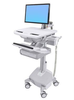 STYLEVIEW CART WITH LCD ARM LIFE POWERED DBL DRAWER SAU-EU CRTS