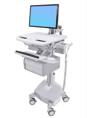STYLEVIEW CART WITH LCD ARM LIFE PWD TALL DBL DRAWER SAU-EU CRTS