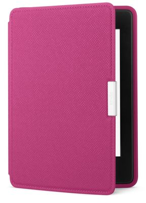 """Kindle Paperwhite leather coverPink,  lær. For Kindle Paperwhite 6""""."""