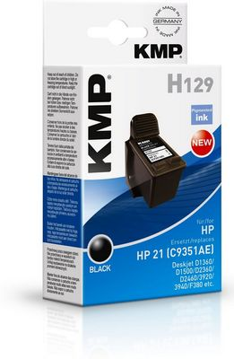 H129 ink cartridge black compatible with HP C 9351 AE