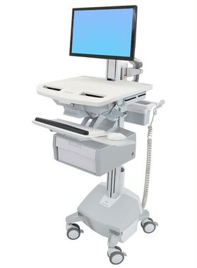 STYLEVIEW CART WITH LCD PIVOT LIFE POWERED TALL DRAWER SAU-EU CRTS