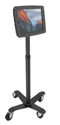 Rise Rolling Kiosk Stand Black