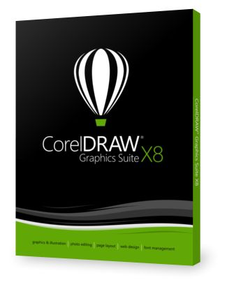 CORELDRAW GRAPHICS SUITE X8 DVD BOX IE                       EN DVD