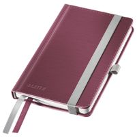 LEITZ Notepad Style A6 hard ruled 80s. red (44890028*5)