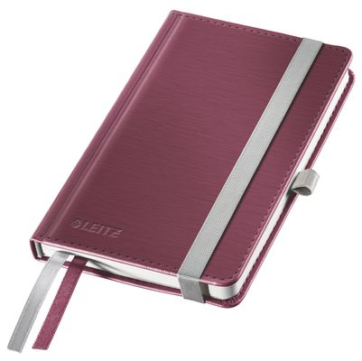 Notepad Style A6 hard ruled 80s. red