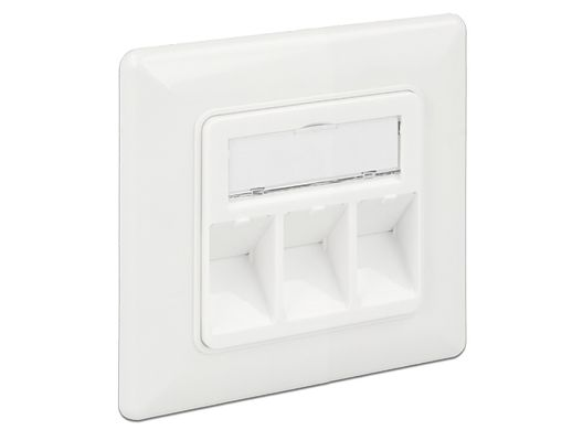 Keystone Wall Outlet 3 Port compact