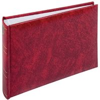 BASICLINE red 21,5x16 50 white Pages bookbound 1000203