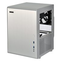 PC-Q33WA Mini-ITX Cube - silber Window