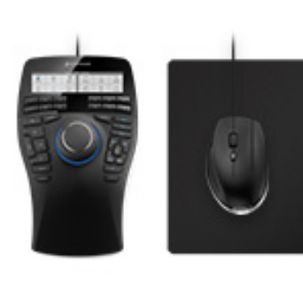3DCONNEXION SpaceMouse Enterprise Kit contains SpaceMouse Enterprise CadMouse CadMouse Pad USB-Hub with two ports (3DX-700058)