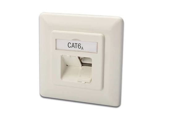DIGITUS CAT 6A NETWORK OUTLET CLASS EA FLUSH HORIZONTAL        IN CPNT