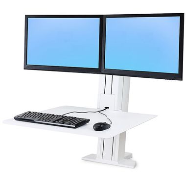 WORKFIT-S DUAL MONITOR REAR MOUNTING BRIGHT WHITE ACCS