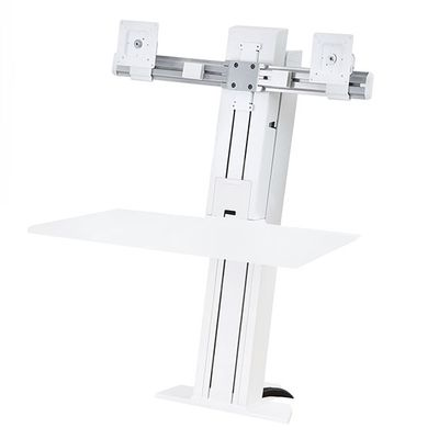 WORKFIT-S DUAL MONITOR SMALL WORKSURFACE REAR MOUNTING
